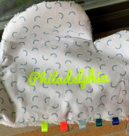 Mellipou PACIFIER COMFORTER: Taylor/Philly