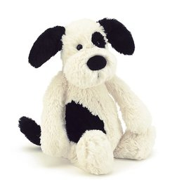 Jellycat Bashful Black & Cream Puppy: Medium
