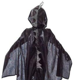 Little Adventures Dragon Cloak Black/Silver