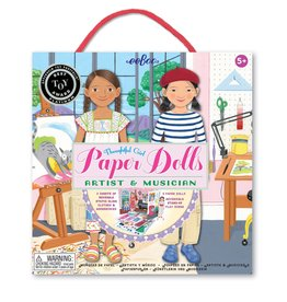 eeBoo Paper Doll: Musician and Artist Elodie and Naomi