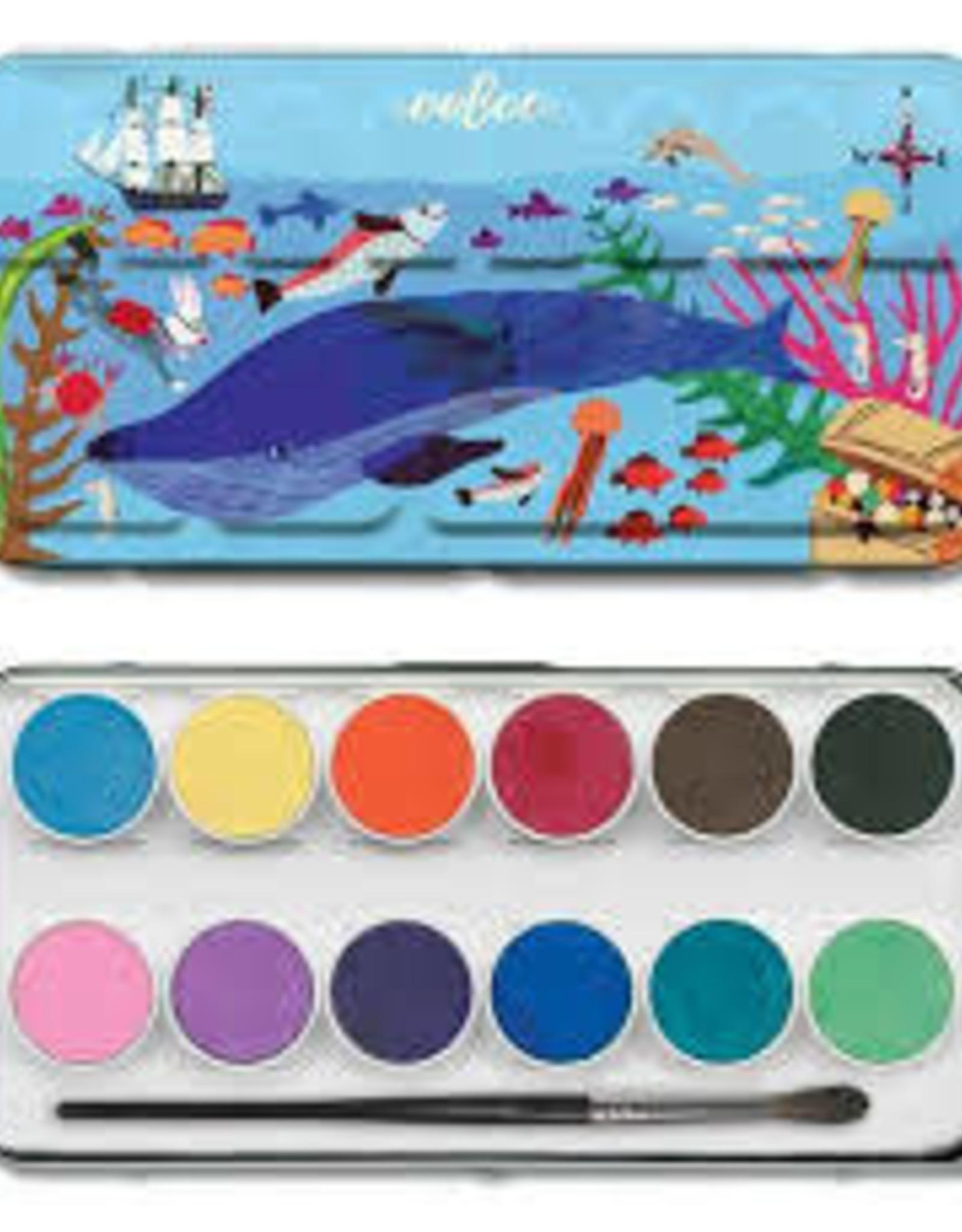 eeBoo In the Sea Watercolors