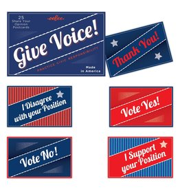 eeBoo Give Voice Postcards