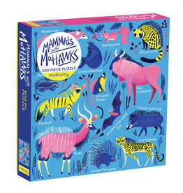 Chronicle Books 500 pc Puzzle: Family Mammals with Mohawks