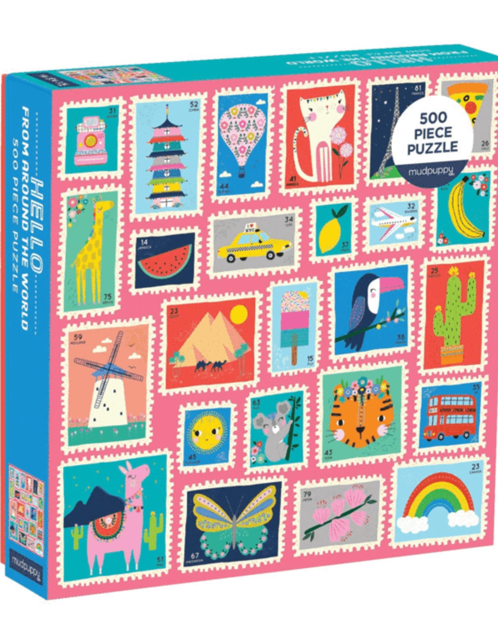 Chronicle Books 500 pc Puzzle: Family Hello Around World