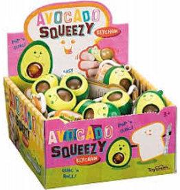 Toysmith Avocado Squeezy KeyChain