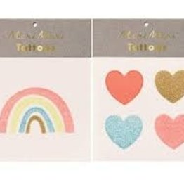 Meri Meri Tattoo: Rainbow & Hearts SM