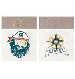 Meri Meri Tattoo: Bearded Pirate SM