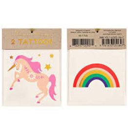 Meri Meri Tattoo: Unicorn & Rainbow SM