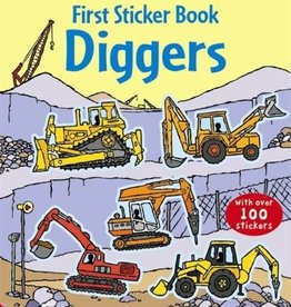 EDC Publishing First Sticker Book: Diggers