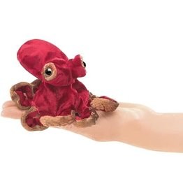 Folkmanis Finger Puppet: Red Octopus