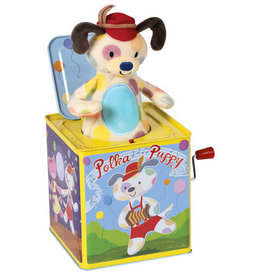 Schylling Polka Puppy Jack-in-the-Box