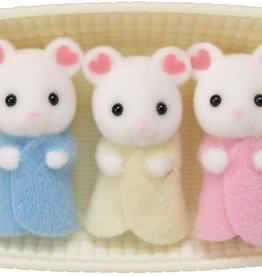 Epoch Everlasting Play Marshmallow Mouse Triplets