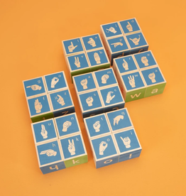 Uncle Goose Sign Language Alphabet Blocks