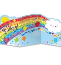 Peaceable Kingdom Rainbow Tri-Fold Card