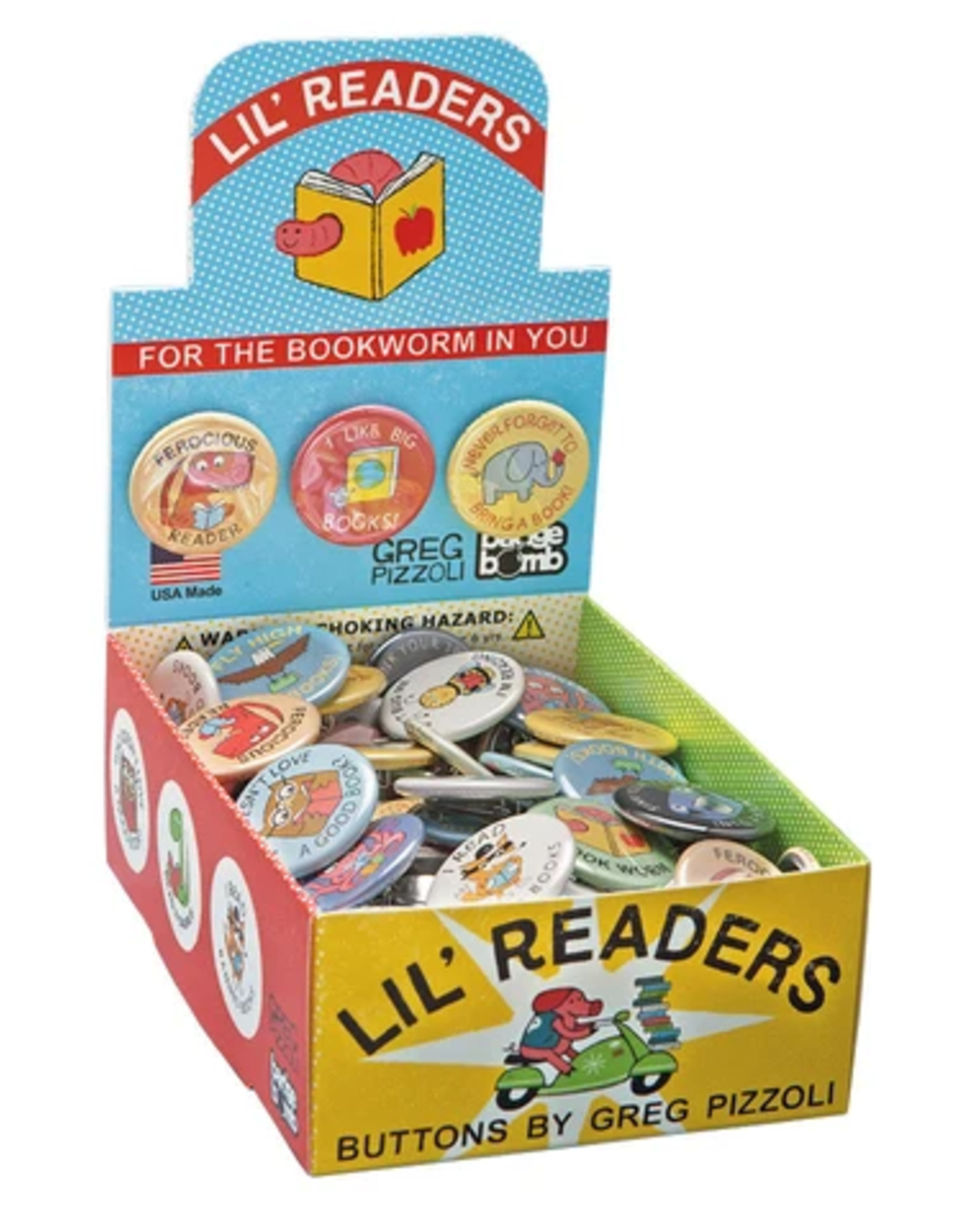 Badge Bomb Button: Lil' Readers
