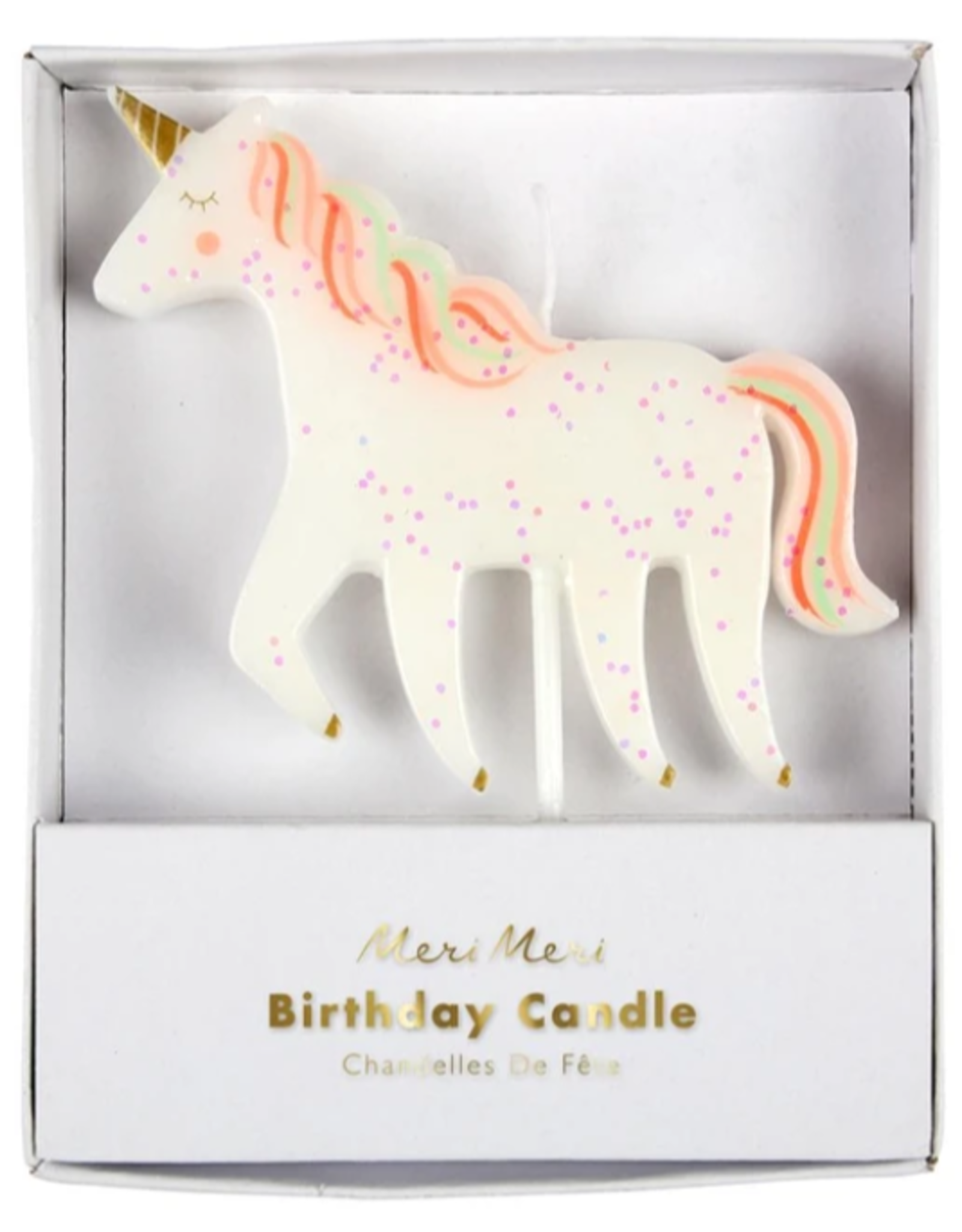 Meri Meri Candle: Large Unicorn