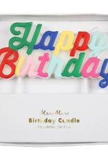 Meri Meri Candle: Multicolor Happy Birthday