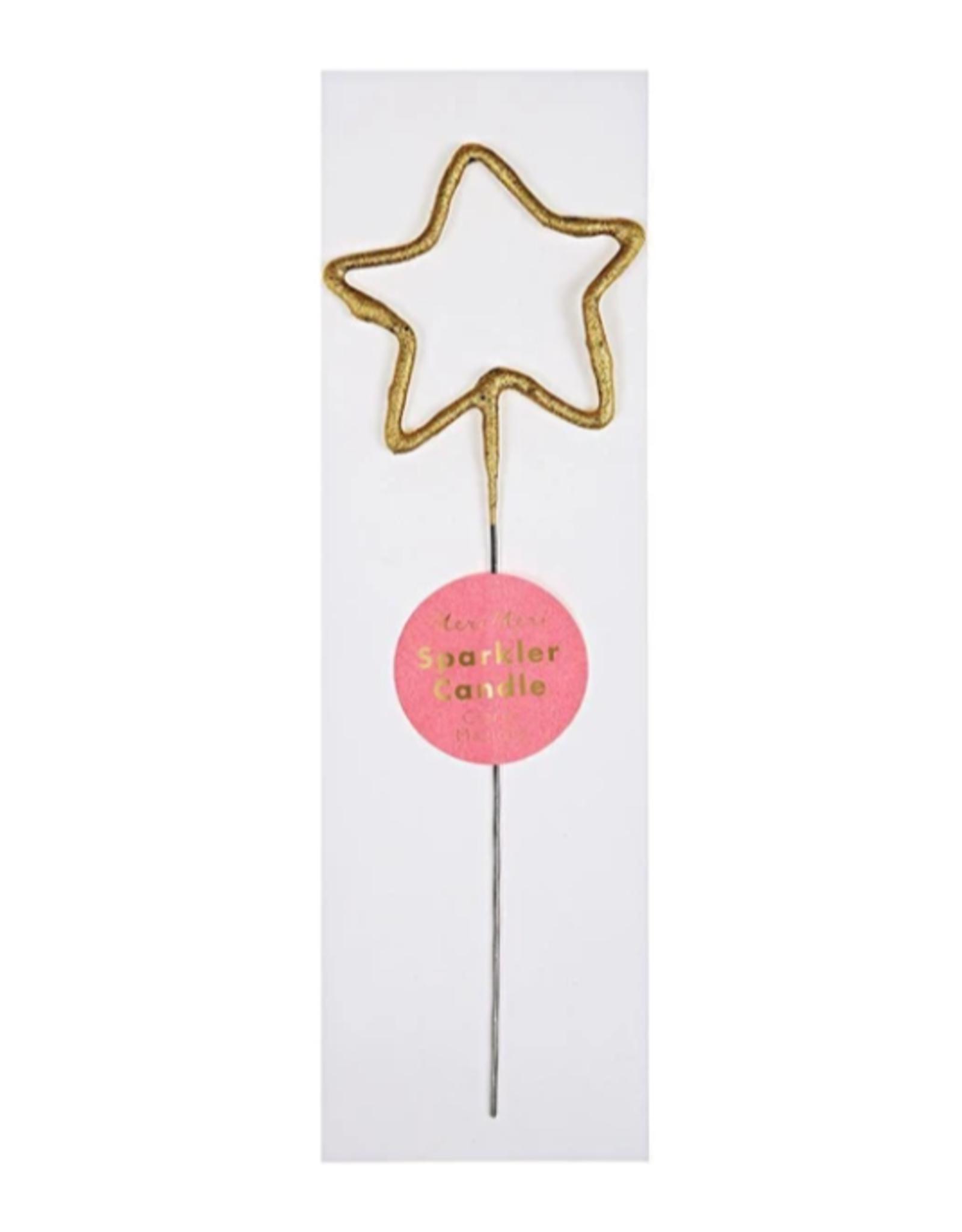 Meri Meri Candle: Gold Star Sparkler