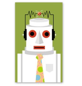Rock Paper Scissors Enclosure Card: Robot