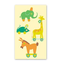 Rock Paper Scissors Enclosure Card: Retro Pull Toys