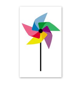 Rock Paper Scissors Enclosure Card: Rainbow Pinwheel