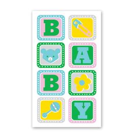 Rock Paper Scissors Enclosure Card: Baby Blocks