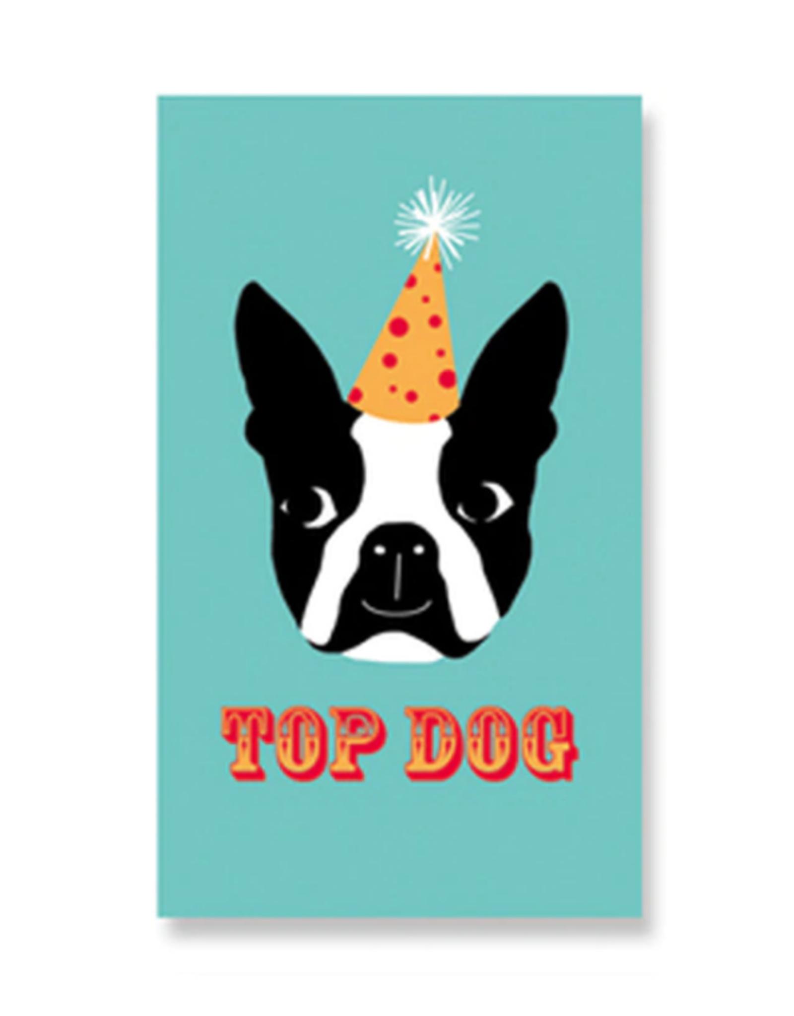 Rock Paper Scissors Enclosure Card: Top Dog Boston Terrier