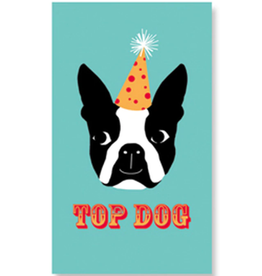Rock Paper Scissors Enclosure Card: Top Dog Boston Terrier