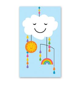 Rock Paper Scissors Enclosure Card: Happy Baby Mobile