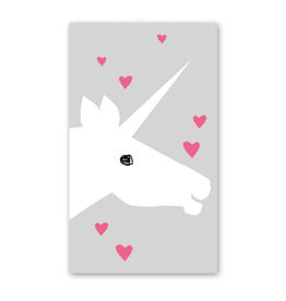 Rock Paper Scissors Enclosure Card: Unicorn and Hearts