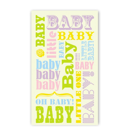 Rock Paper Scissors Enclosure Card: Baby Pastel Words