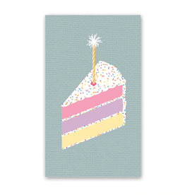 Rock Paper Scissors Enclosure Card: Colorful Cake