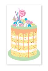 Rock Paper Scissors Enclosure Card: Drip Layer Cake