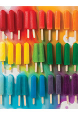 Chronicle Books 500 pc Puzzle: Rainbow Popsicles
