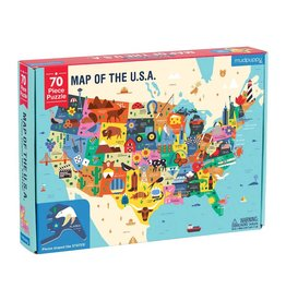 Chronicle Books 70 pc Puzzle: Map of the U.S.A