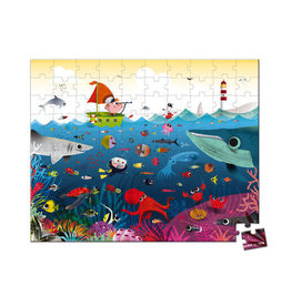 Janod Hat Boxed Puzzle 100pc: Underwater World