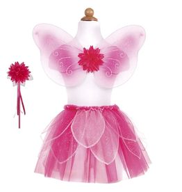 Creative Education Fancy Flutter Skirt w/ wand and wings-Pink