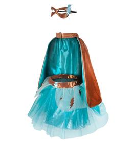 Creative Education Super-Duper Tutu, Cape & Mask Set: Turquoise/Copper Size 4-6