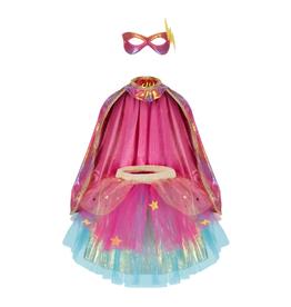 Creative Education Super-Duper Tutu, Cape & Mask Set: Pink/Gold Size 4-6