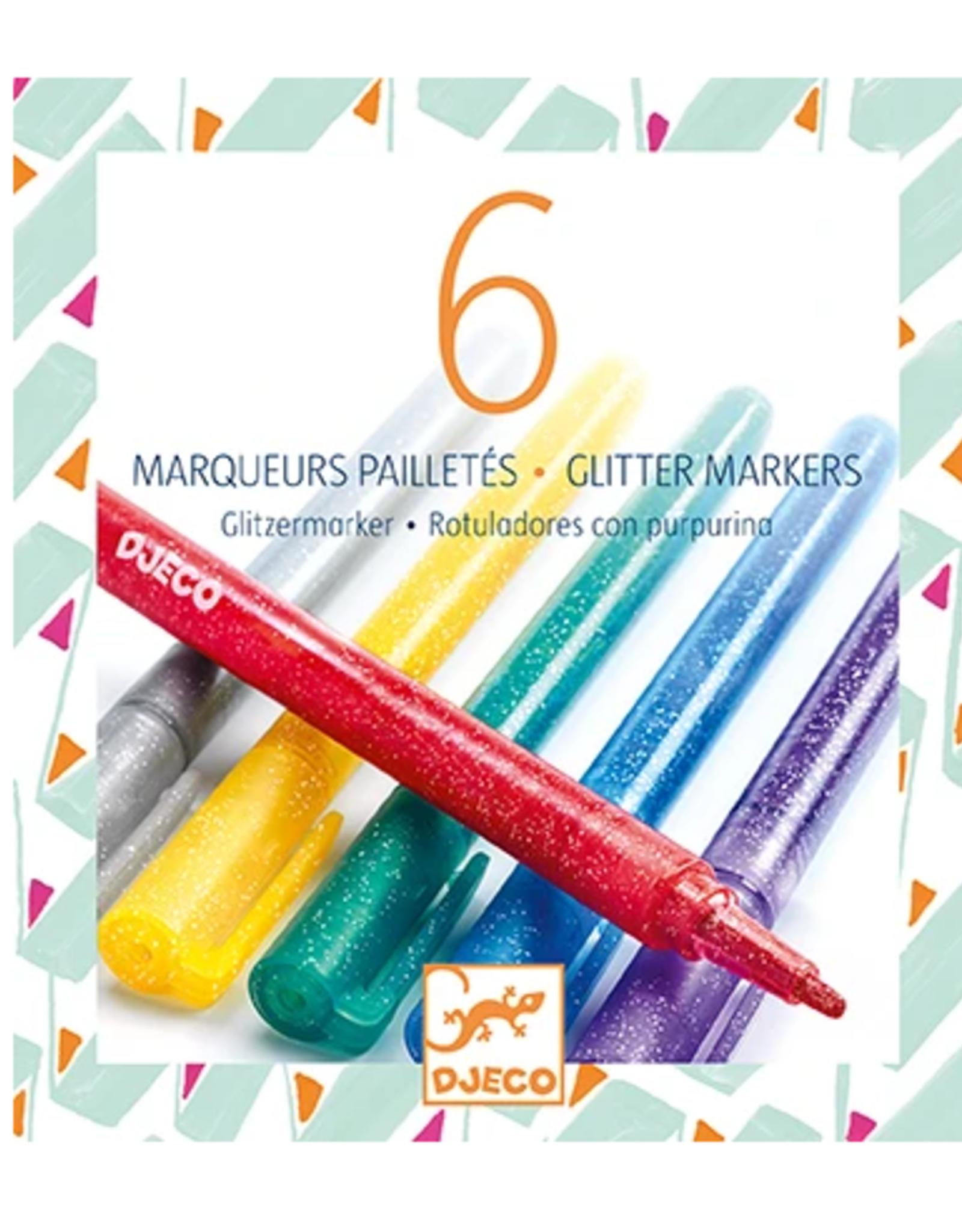 Djeco 6 Glitter Markers