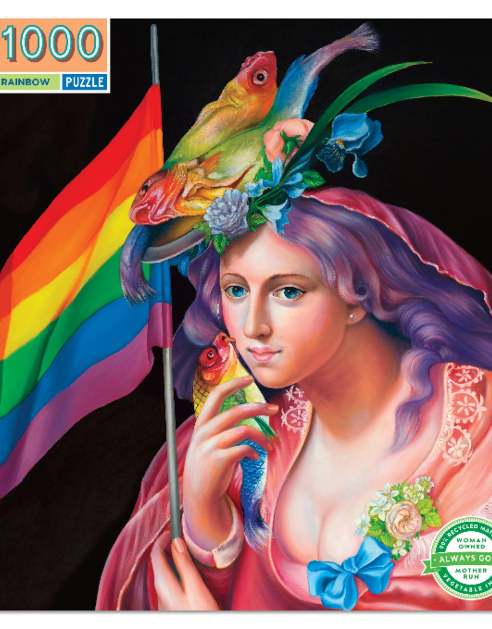 eeBoo 1000pc-Puzzle: Liberty Rainbow