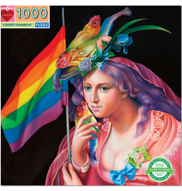 eeBoo 1000pc-Puzzle: Liberty Rainbow