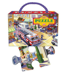 eeBoo 20pc-Puzzle: Fire Truck