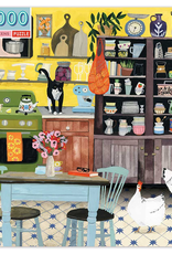 eeBoo 1000pc-Puzzle: Kitchen Chickens