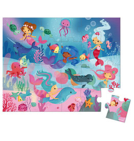 Janod Hat Boxed Puzzle 24pc: Mermaids