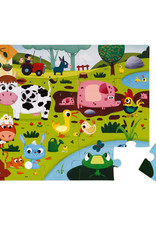Janod 20pc Tactile Puzzle: Farm Animals