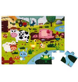 Janod 20pc Tactile Puzzle: Farm Animals