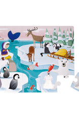 Janod 20pc Tactile Puzzle: Life on the Ice