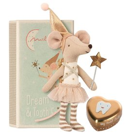 Maileg Mouse, Tooth Fairy Girl with metal box