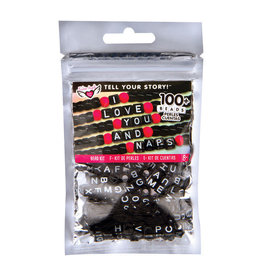 Fashion Angels Bead Bag: Alphabet Black Cubes